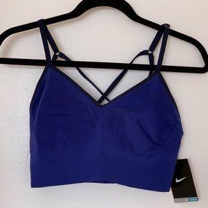 NEW: strappy Nike sports bra, blue - medium